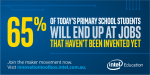 65% of today's primary school students will end up at jobs that haven't been invented yet.