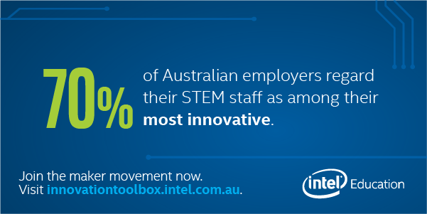 70% of Australian employers regard their STEM staff as among their most innovative.