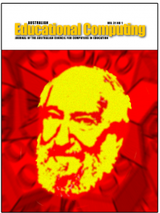 Cover Australian Educational Computing Volume 31 Number 1 - cover image of Seymour Papert