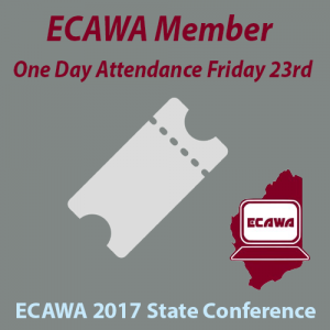ECAWA 2017 State Conference Member One Day Friday Attendance Ticket