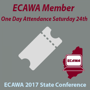 ECAWA 2017 State Conference Member One Day Saturday Attendance Ticket