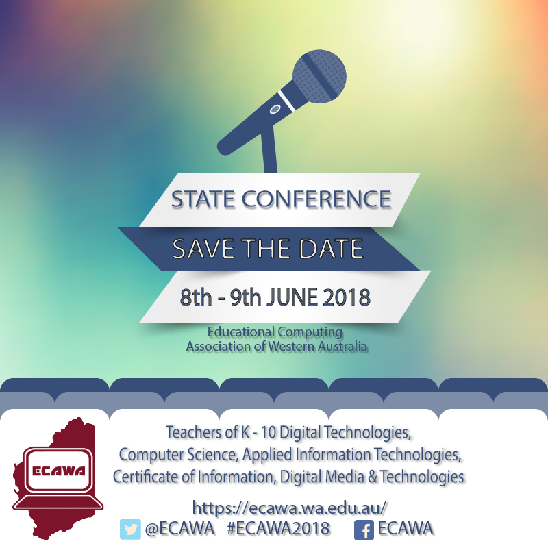 ECAWA 2018 State Conference - Save the Date! June 8th and June 9th 2018