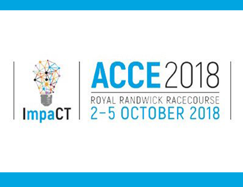 ACCE 2018 in Sydney Register now at https://acce2018.com.au/