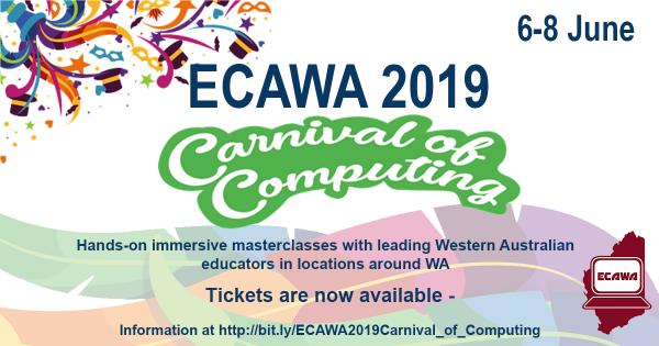 ECAWA 2019 Carnival of Computing Information at http://bit.ly/ECAWA2019Carnival_of_Computing