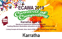 ECAWA 2019 A Carnival of Computing in Karratha See https://ecawa.wa.edu.au/conferences/2019-carnival-of-computing/2019-carnival-of-computing-karratha/