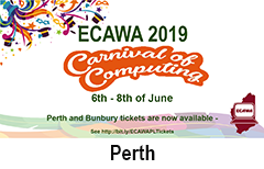 ECAWA 2019 A Carnival of Computing - in Perth!
