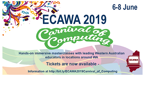 ECAWA 2019 Carnival of Computing Information at https://bit.ly/ECAWA2019Carnival_of_Computing
