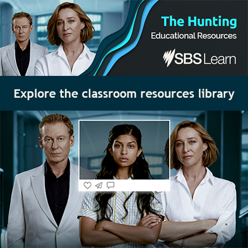 SBS Learn resources available for The Hunting at https://www.sbs.com.au/learn/the-hunting?cx_cid=sbslearn:edm:19