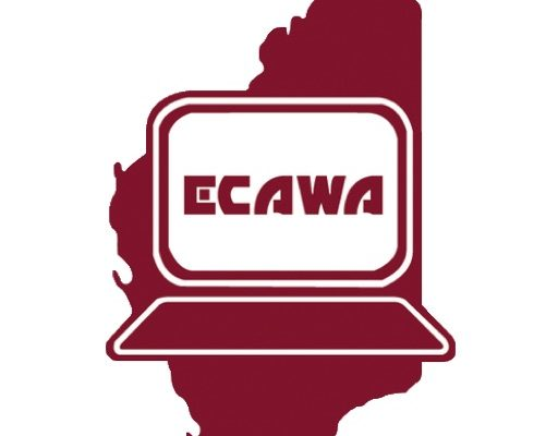 ECAWA logo that appears when the page is saved to the homescreen of your device