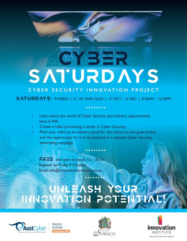 Cyber Saturdays for students aged 12 - 18